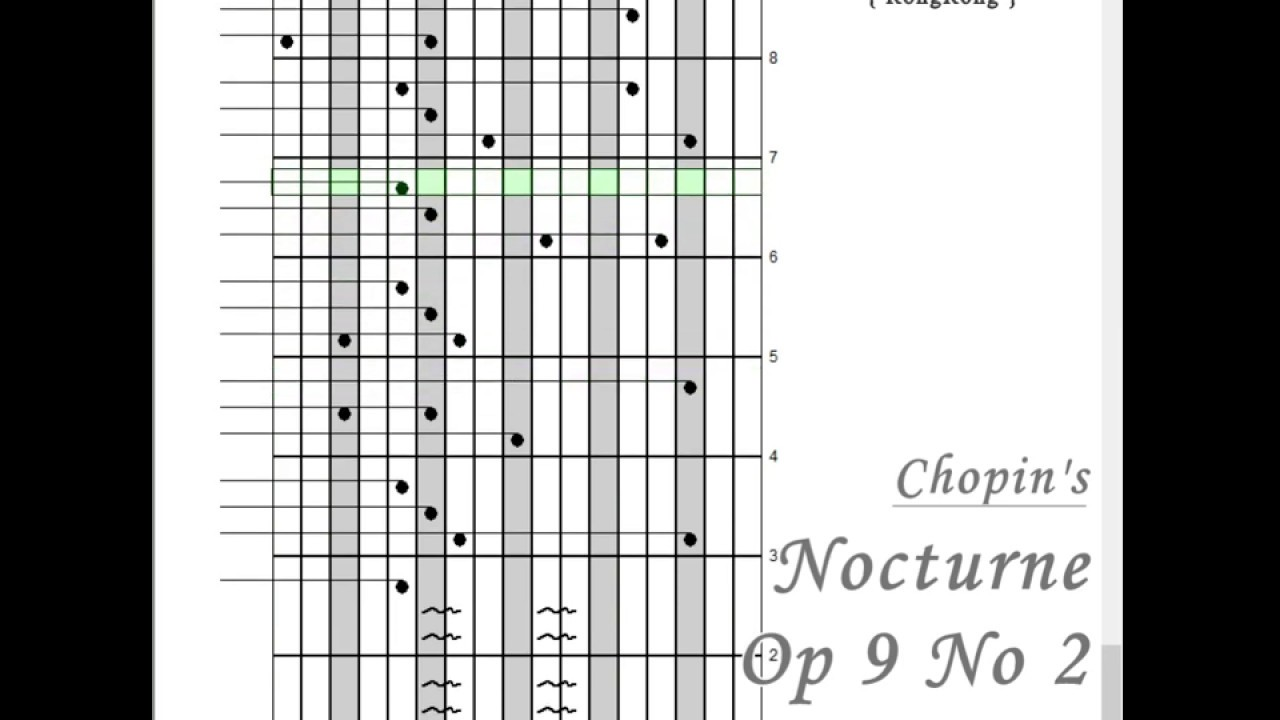 [Kalimba Tabs] Chopin's Nocturne op 9 no 2