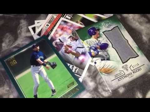 Episode 2 - Unpacking Baseball Cards: Ichiro Rookie Card!!!!!! Anthony Rizzo #'d/18