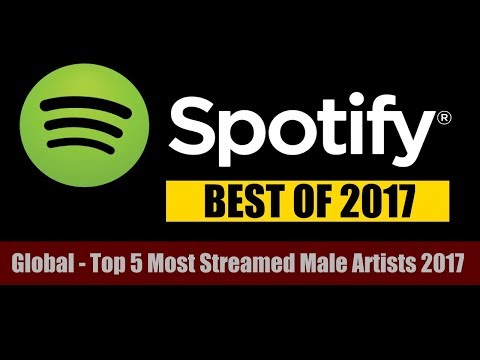Spotify 2017 | Global - Top 5 Most Streamed Male Artists 2017 | ChartExpress
