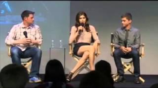 Logan Lerman and Alexandra Daddario Interview Apple Store Part 3
