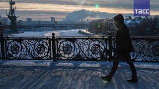 Морозное утро  первая рабочая неделя в Москве началась при минус 27 29 °C