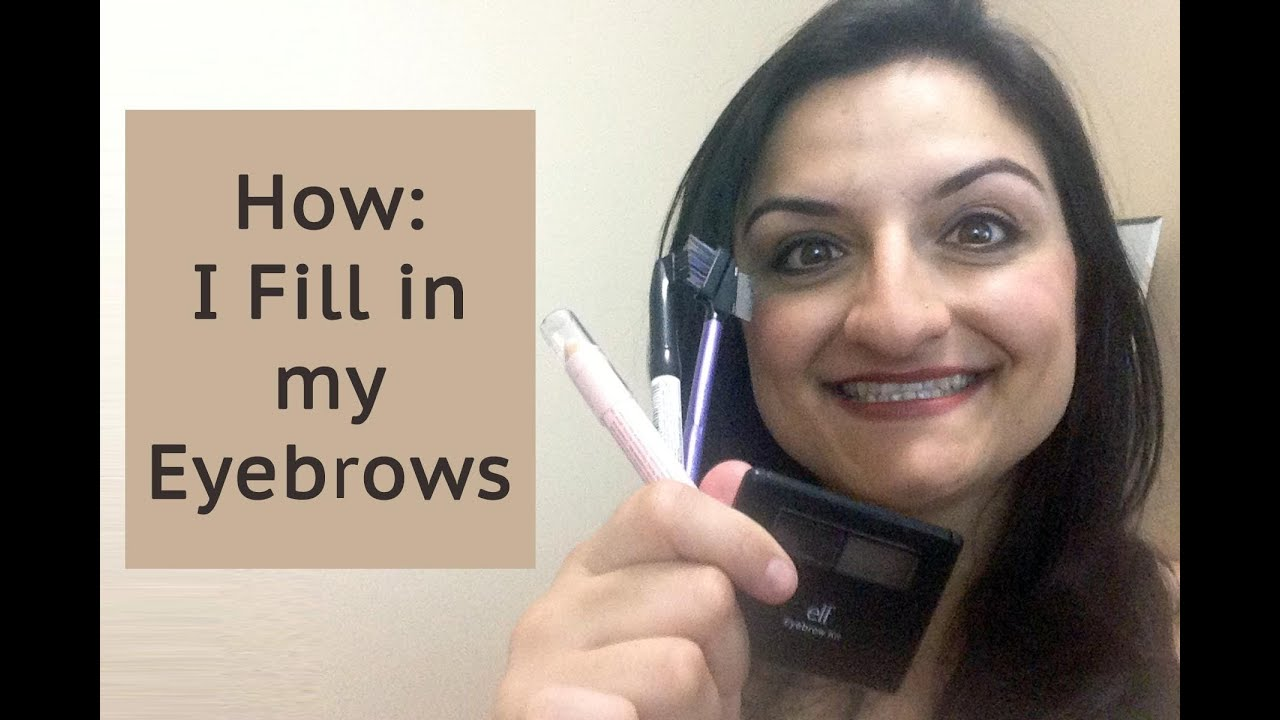 How How I Fill In My Eyebrows Elf Eyebrow Kit And Nyx Eyebrow