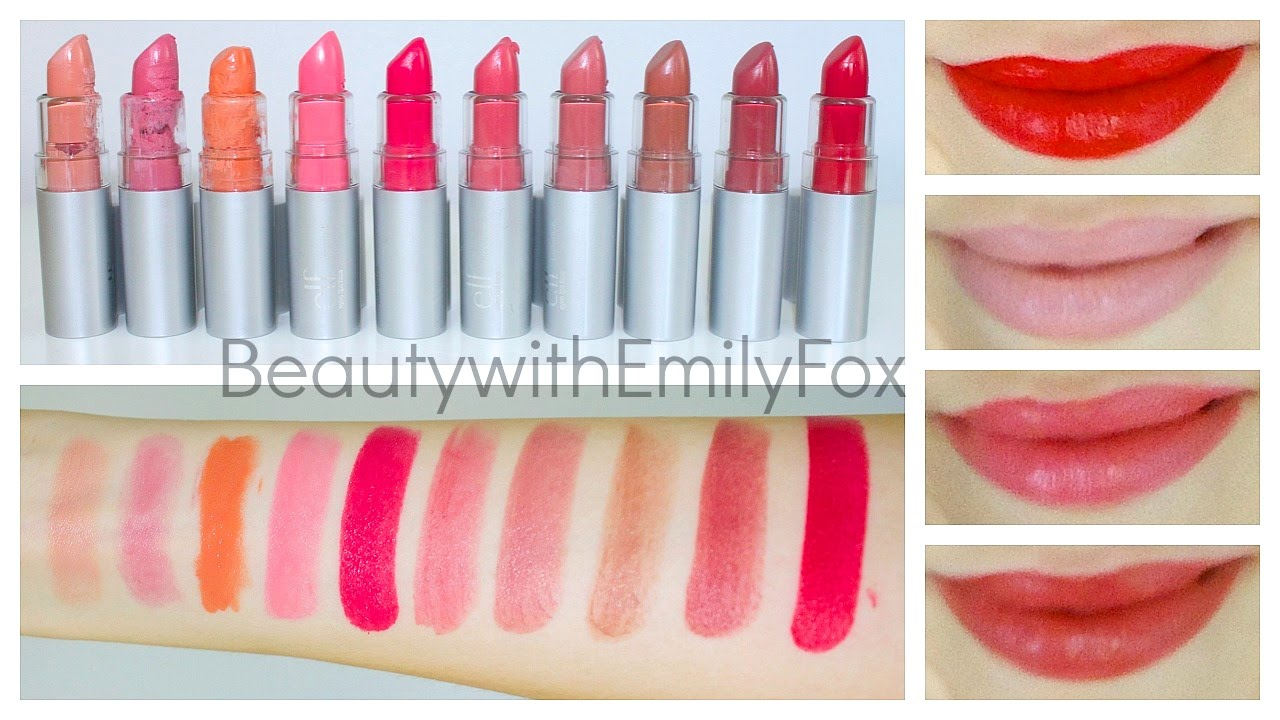 ELF Essential Lipstick + Lip swatches - Review 2014 - YouTube