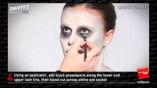 Ghost Pirate Face Painting Make-up Tutorial Thumbnail