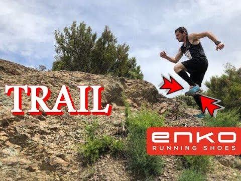 Enko running shoes Trail - YouTube