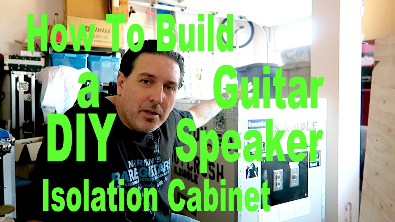 how to build a diy guitar speaker isolation cabinet youtube. Black Bedroom Furniture Sets. Home Design Ideas