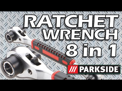 8 in 1 Multifunction Socket Wrench with Ratchet, PARKSIDE Ratchet Wrench