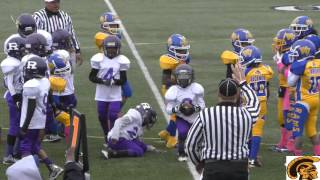 Eastside Raiders vs. West Seven Rams (D-Team) Game Highlights (10-3-2015)