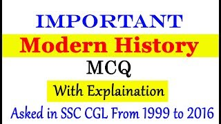 Important Modern History MCQ Asked in SSC from 1999 to 2016