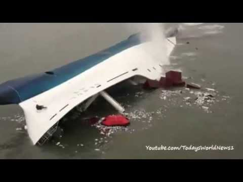 South Korea ferry: Footage of rescue from sinking ship