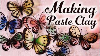 【レジン】ペーストクレイの簡単な作り方 蝶々のフラワーピック DIY Easy way to make paste clay Butterfly flower pick [Resin]
