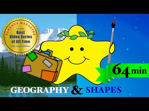 60 minutes SHAPES & ANIMALS ★ Best Learning Video Songs ★ Babies Toddlers Kids Nursery Preschool