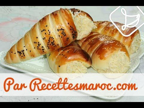 cornets-briochés-salés-farcis---chicken-stuffed-brioche-cones---كورني-دجاج-سهل-التحضير
