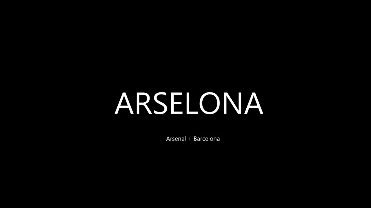 Arselona beautiful tiki taka football