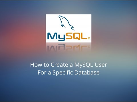 How to Create a User in MySQL for a Specific Database