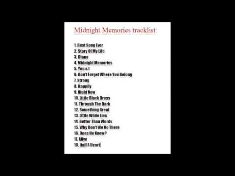 "one direction - Official tracklist ""Midnight Memories ..."