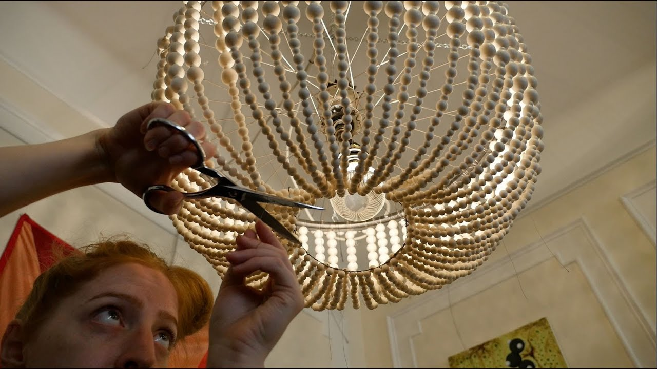 Beckyu0027s DIY Beaded Chandelier // Becky Stern   YouTube
