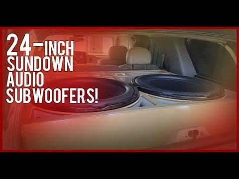 2 24-inch SUNDOWN Audio Sub-woofer install!