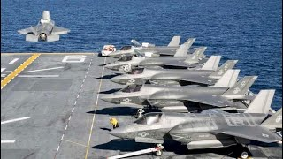 美國海軍準航母 美利堅號兩棲突擊艦 現身東海 美军航母打击群 已抵达东海演练 F35隐身战机频频起降