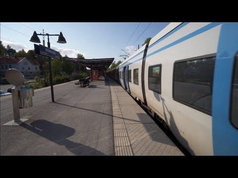 Sweden, Stockholm, train ride from Östertälje to Rönninge
