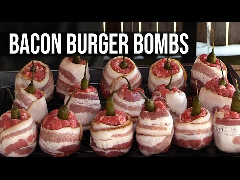 Bacon Burger Bombs by the BBQ Pit Boys