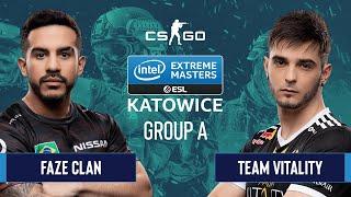 CS:GO - FaZe Clan vs. Team Vitality [Mirage] Map 1 - Group A - IEM Katowice 2020