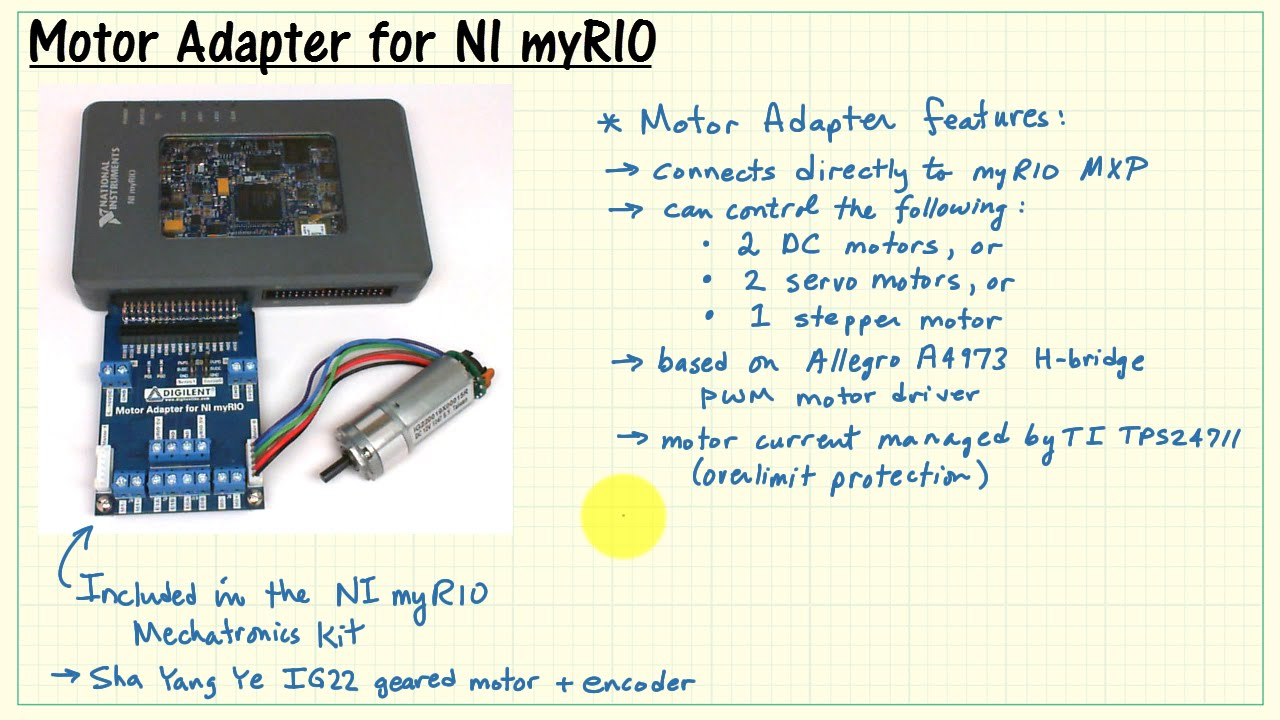 Ni Myrio  Motor Adapter For Ni Myrio