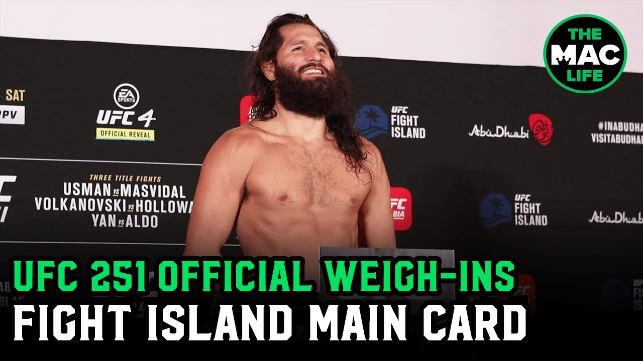 UFC 251 Official Weigh-Ins: Main Card | Fight Island