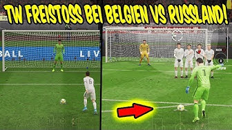 Torwart Freistoß in BELGIEN vs. RUSSLAND Elfmeter + Freekick! - Fifa 20 Ultimate Team