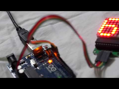 Arduino 8x8 LED Dot Matrix Display With MAX7219 : Code