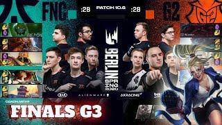Fnatic vs G2 Esports - Game 3 | Grand Finals PlayOffs S10 LEC Spring 2020 | FNC vs G2 G3