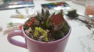 Miniature Teacup Fairy Garden
