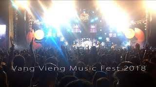 Vang Vieng Music Fest 2018 - Full version - Sack Cells - Sarky - The Dark Room - Live