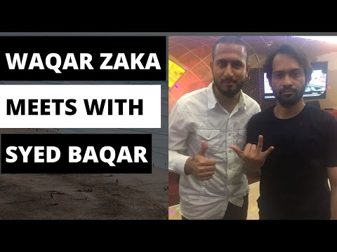 Waqar Zaka Meets with Syed Baqar in Dubai 2019