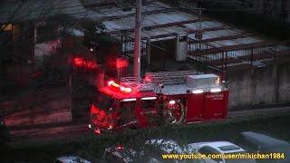 Fire accident 富士見市鶴瀬西の火災現場、鎮火から二日後に再び白煙が上がる!!