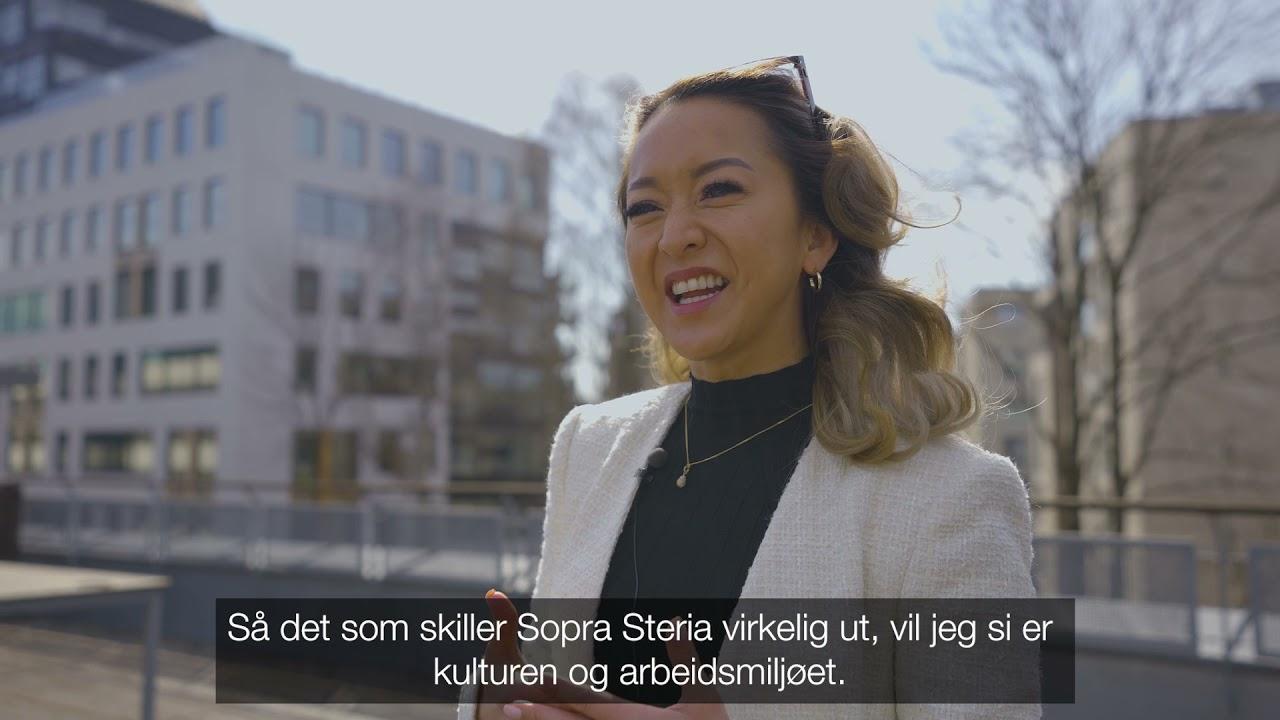 Prosjektleder Elisabeth Gong forteller om sin oppstart i Sopra Steria