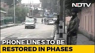 Landlines, Mobile Internet Partially Restored In Jammu And Kashmir