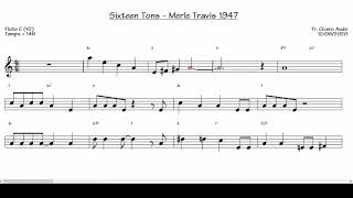 Sixteen Tons - Merle Travis 1947 v2 (Flute C) [Sheet Music]