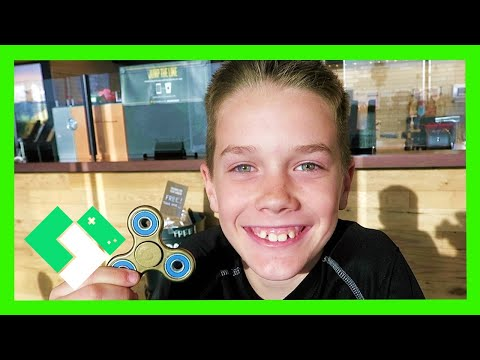 HIS FIRST FIDGET SPINNER! (Day 1851)