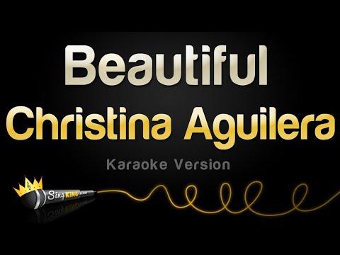 Christina Aguilera  Beautiful Karaoke Version