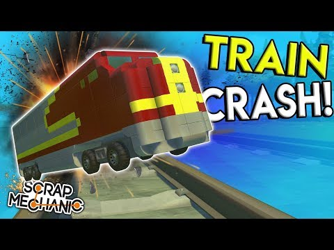 FINDING & CRASHING THE BEST TRAINS! - Scrap Mechanic Gameplay - Workshop Hunters Train Creations