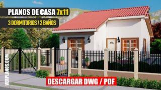 🟩 Planos de Casa ¡GRATIS! Pequeña y Económica 👉 (DWG / PDF)