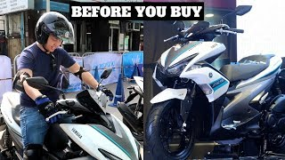 YAMAHA AEROX S 2018: A Quick Test Drive│New features│ABS + Smart Key + Start and Stop System