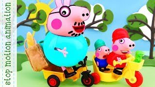 Return from the store  Peppa pig toys stop motion animation english episodes 2018