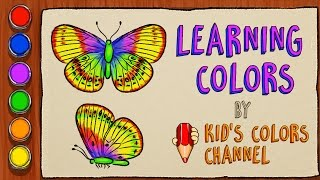 #10  Coloring pages with butterfly | Learning colors for toddlers | Kid's Colors