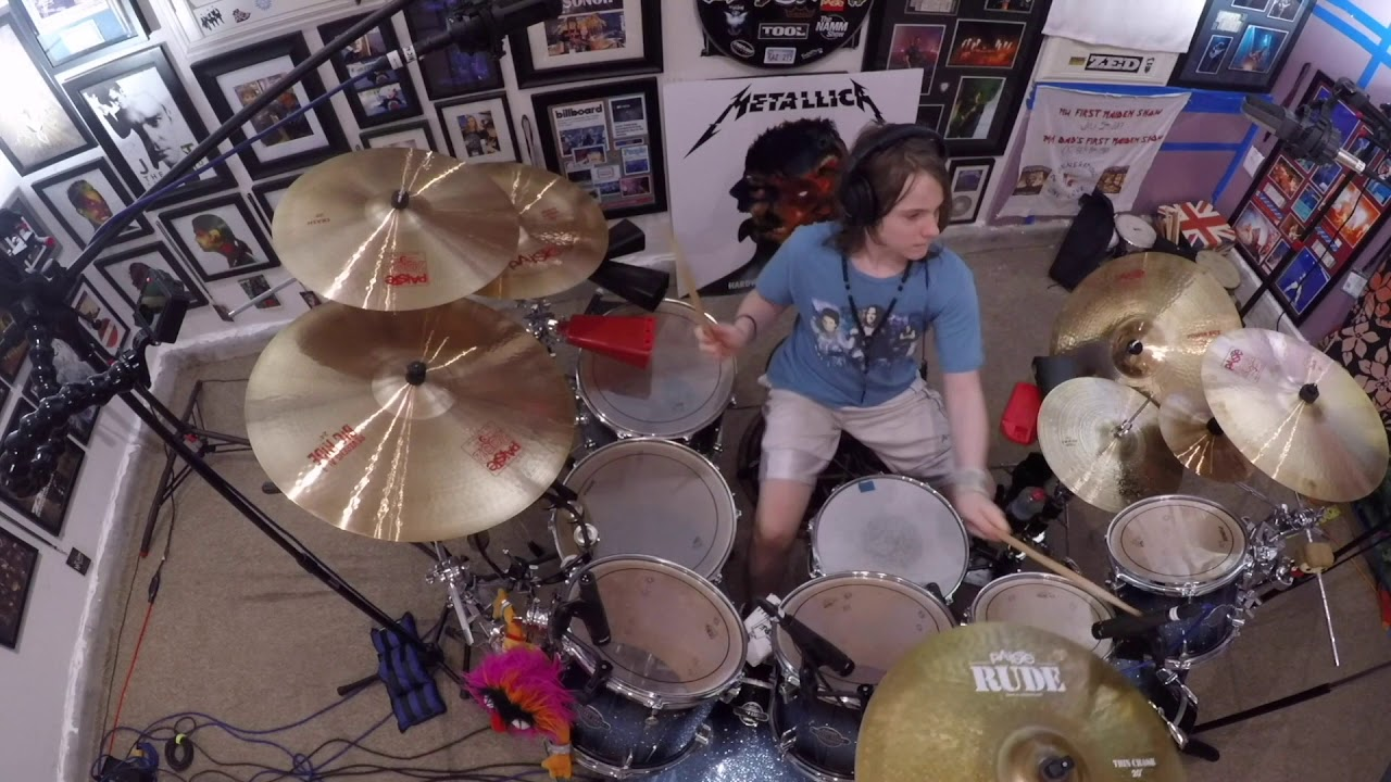"Metallica - One - Drum Cover - 11Yr old Drummer Julian ""Figgy' Delan"