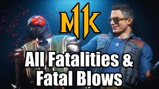 MK11 All Fatalities & Fatal Blows Showcase (Mortal Kombat 11 Showcase)