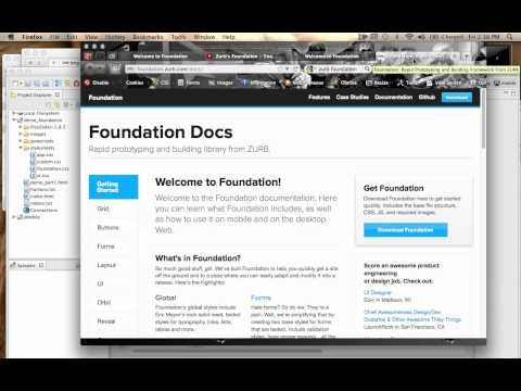 Zurb Foundations basics part 1