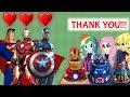 Equestria Girls The Funny Story Of Learn Make Cake Superheroes Iron Man Captian Ameria Superman