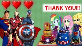 Equestria Girls The Funny Story Of Learn Make Cake Superheroes Iron Man Captian Ameria Superman